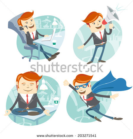 Super Salesman Stock Images, Royalty.