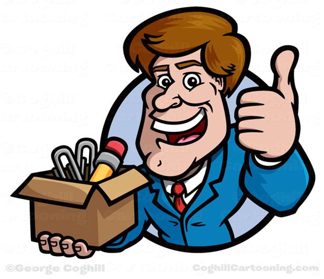 Showing post & media for Cartoon salesman clip art.