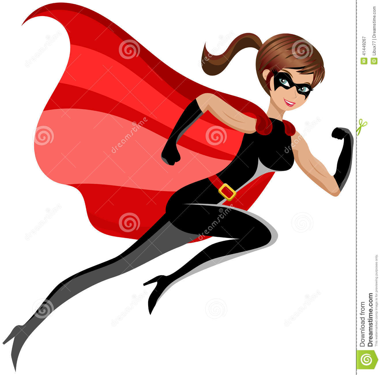 Woman Superhero Clipart.