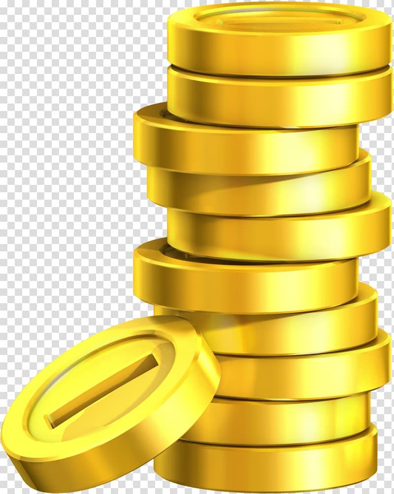 Gold coin illustration, Super Mario Land 2: 6 Golden Coins.