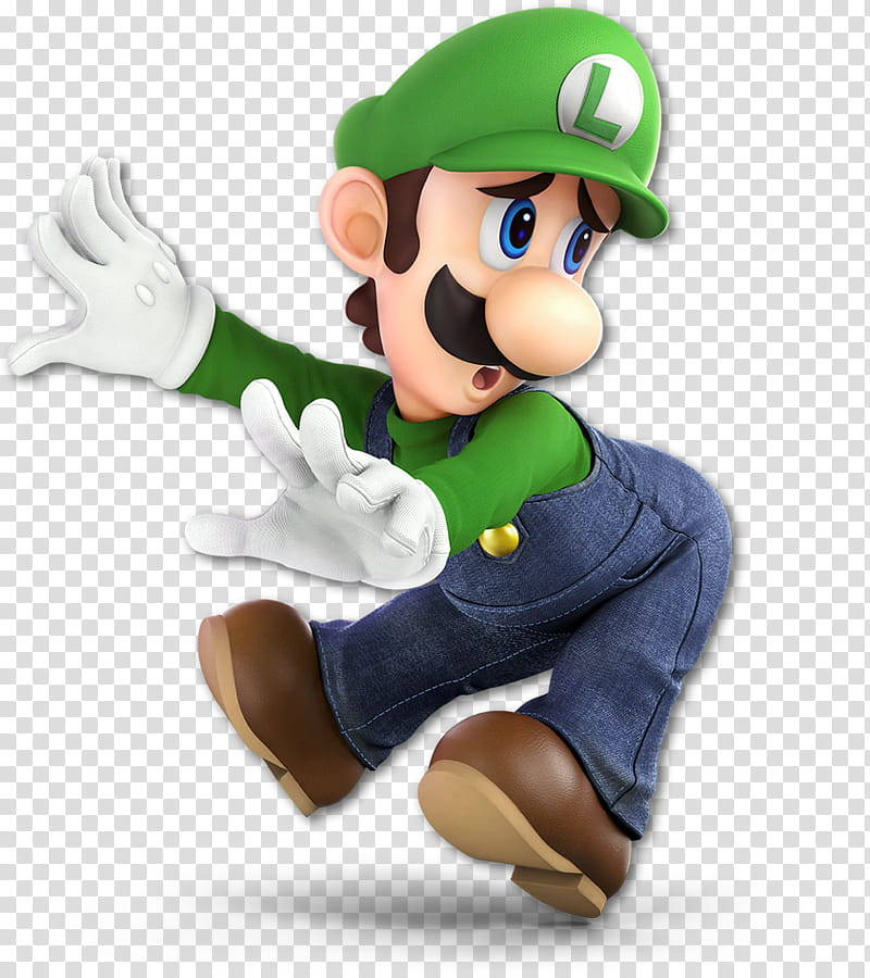 Super Smash Bros Ultimate Luigi transparent background PNG.