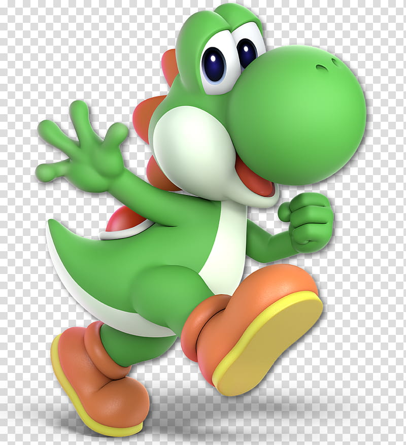 Super Smash Bros Ultimate Yoshi transparent background PNG.