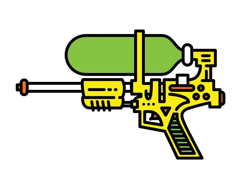 Super Soaker 50 by Keenan Brand on Dribbble.