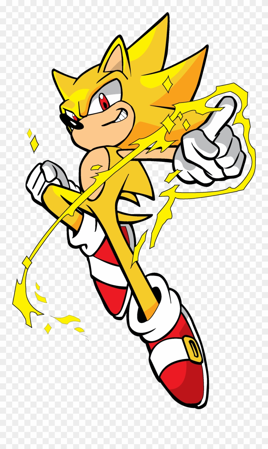 Image Super Sonic Colored Clipart (#2388933).