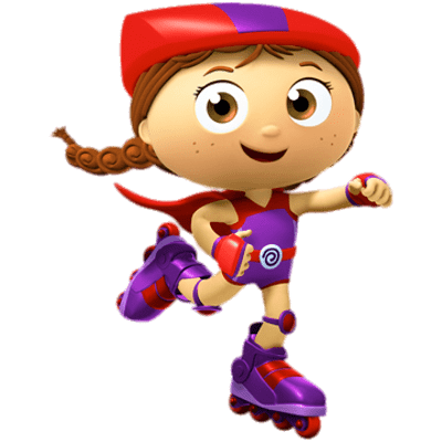 Super Why! Little Red Riding Hood Going Fast transparent PNG.