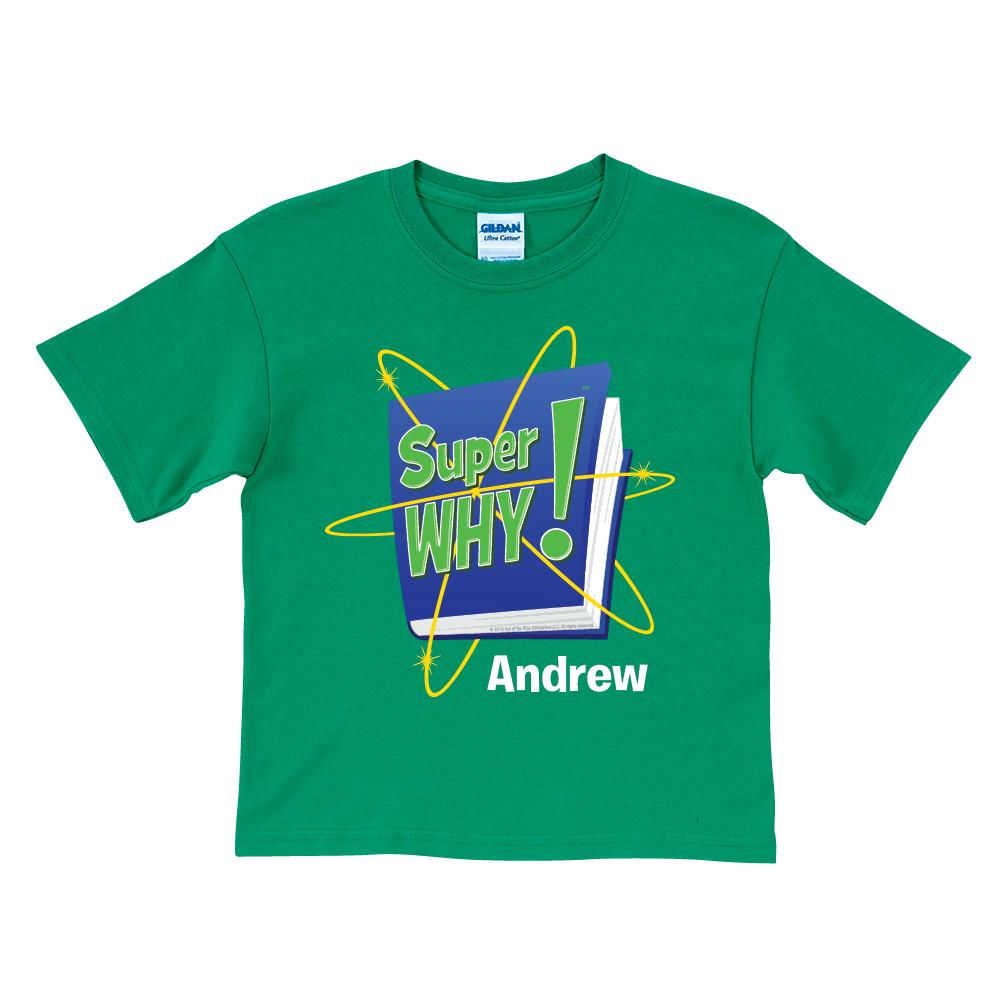 Super Why! Logo Green T.