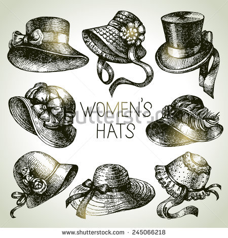 Ladies Hat Stock Images, Royalty.