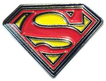 Metal Enamel Pin Badge Brooch (25mm x 18mm) Superman (Super woman) Logo  Motif.