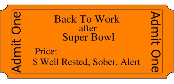Back To Work After Super Bowl Clip Art at Clker.com.