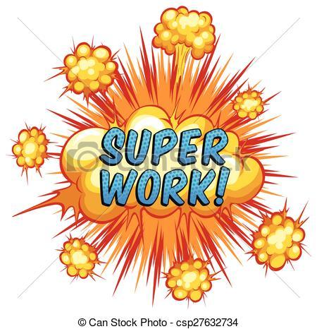 Clipart Vector of Super Work.