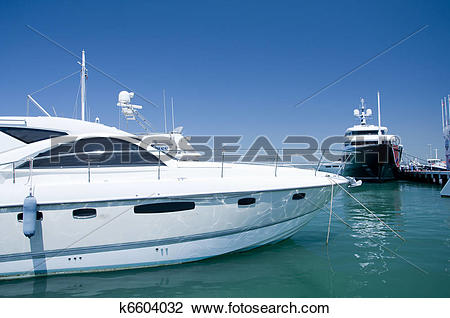 Stock Photo of A Super Yacht Berthed in Gibraltar k6604032.