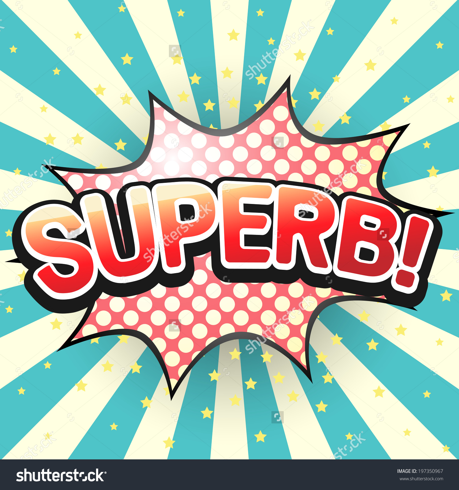 Superb Comic Speech Bubble Vector Illustration Stock Vector.