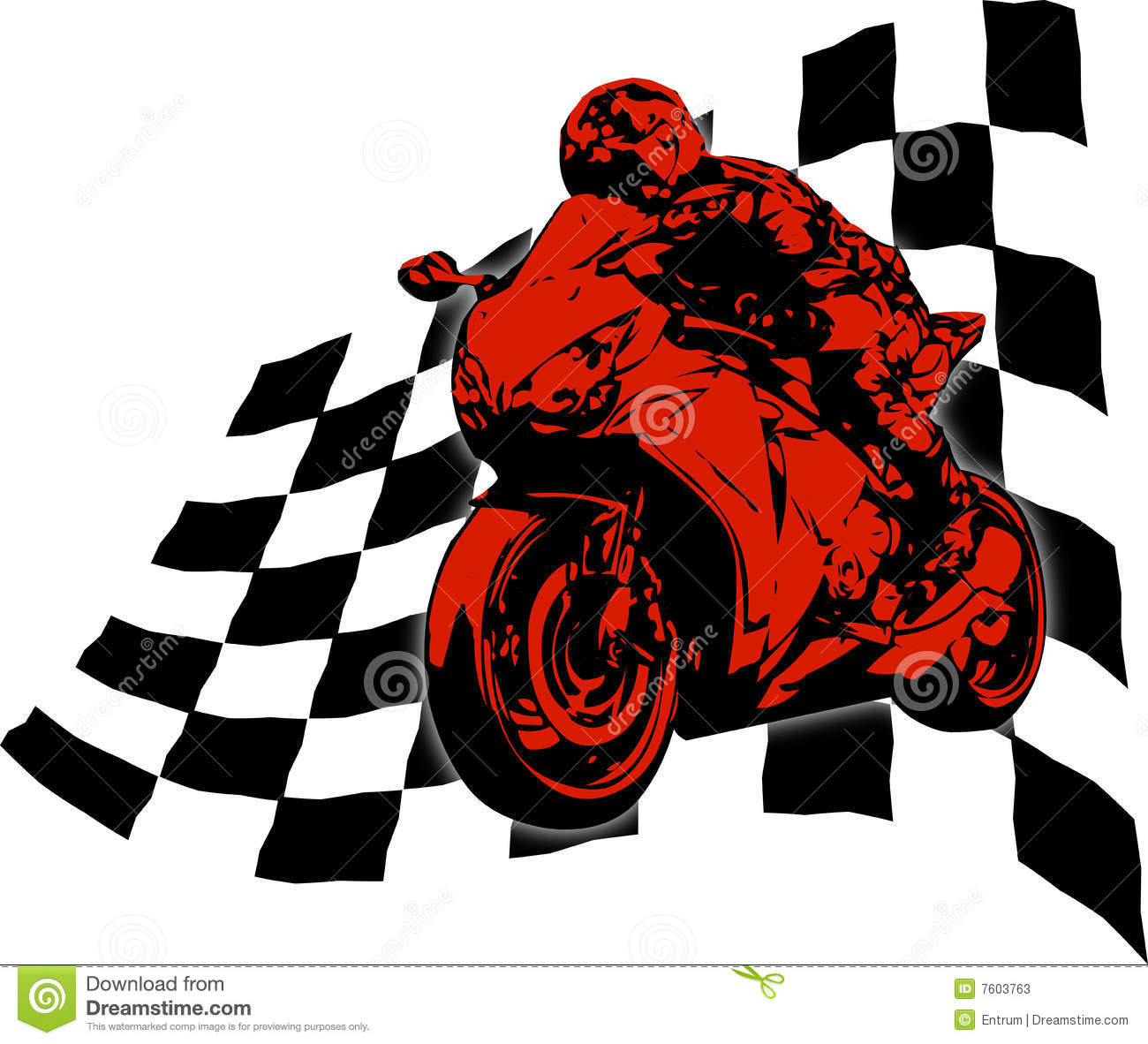 Superbike Stock Illustrations.