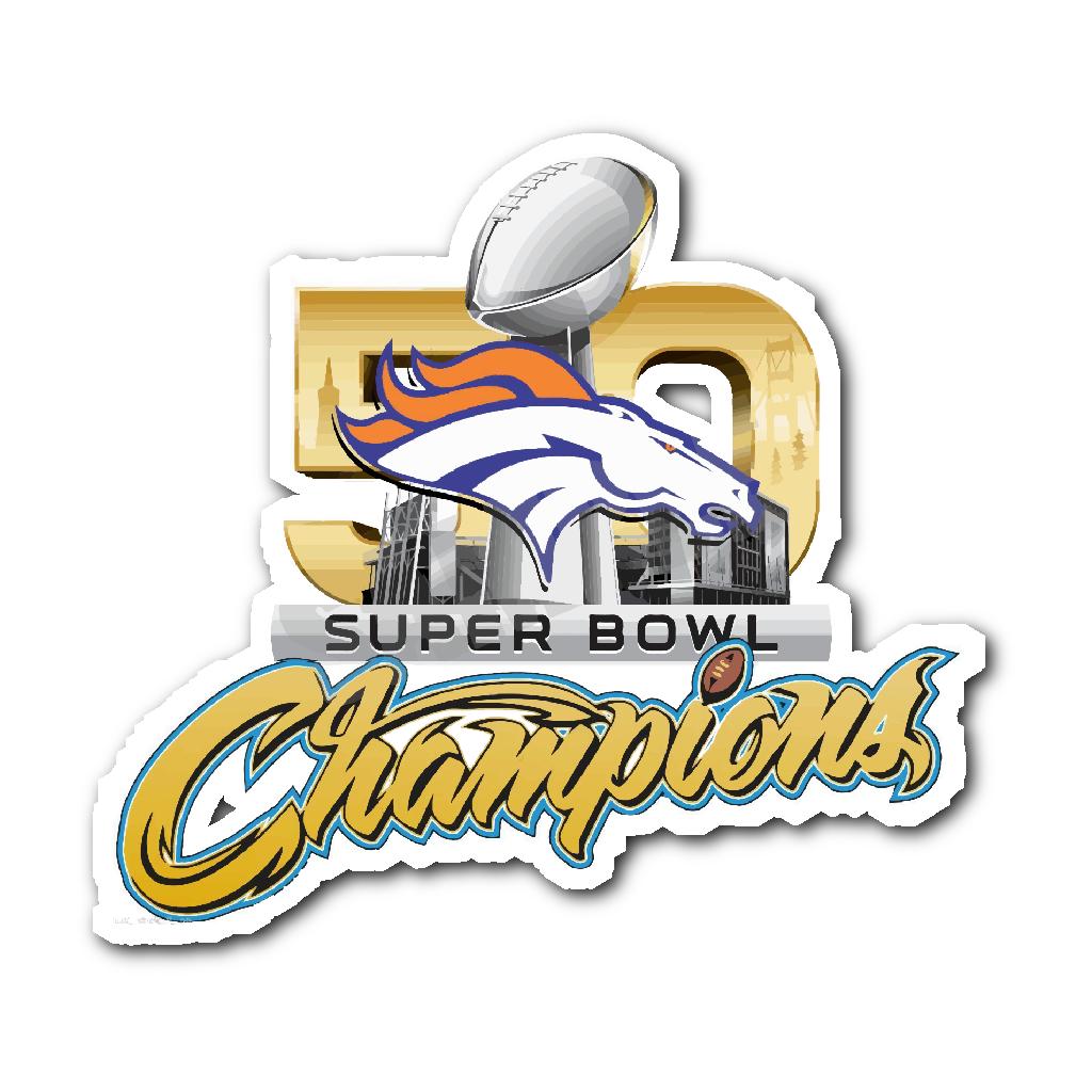 Denver Broncos SUPER BOWL 50 CHAMPIONS Decal/Sticker v2.