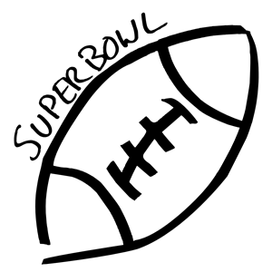 Superbowl Sketch (Cleaned Up) clipart, cliparts of Superbowl.