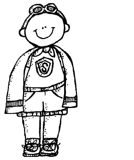 Download super hero black and white clip art clipart.