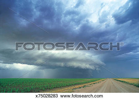 Stock Photo of Supercell Thunderstorm x75028283.