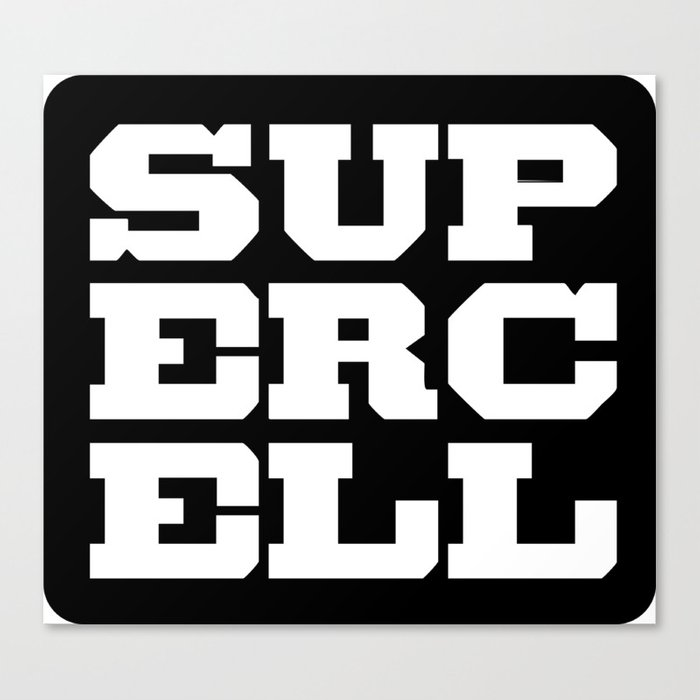 Supercell Logo Canvas Print by egolution.