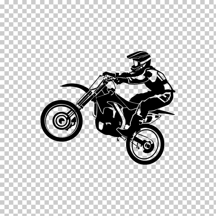 Sticker Motorcycle Wall decal Motocross, Supercross PNG.