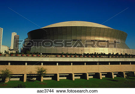 Stock Photo of View of the exterior of the Superdome sports arena.