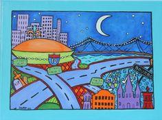 cityscape clip art New Orleans superdome.