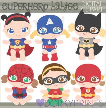 Super Hero Babies Clip Art.