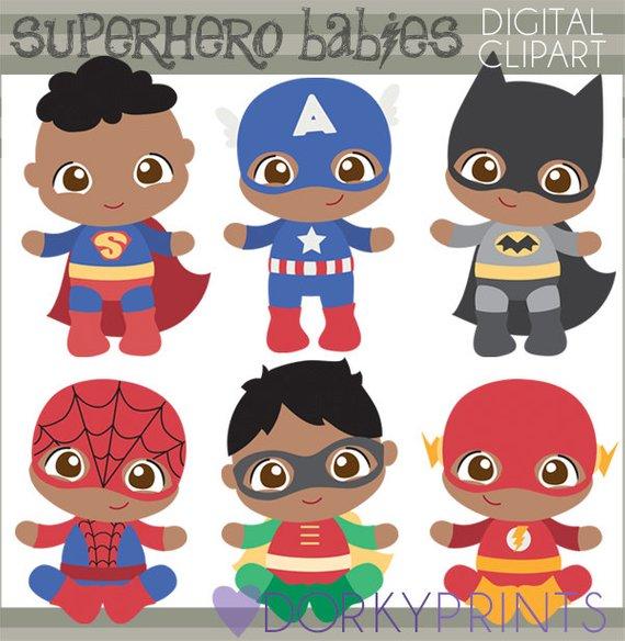 Superhero Baby Clipart.