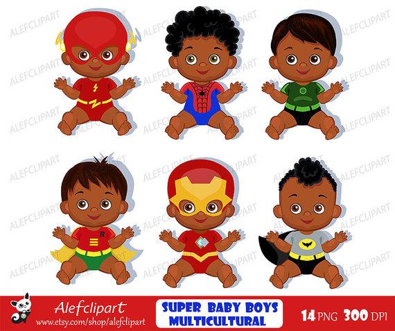 Superhero baby clipart , Superhero Baby Costumes Clip Art.