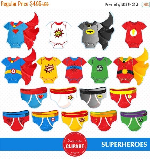 Superheroes baby clipart, superheroes tees, superhero babysuit.