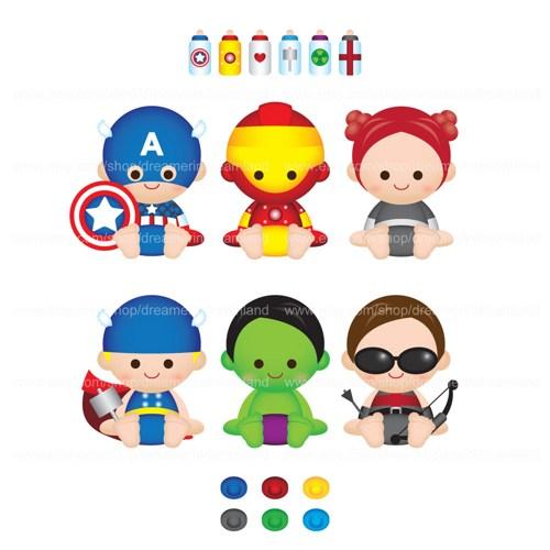 Printable Clipart Digital PNG File Superhero Super Baby Boy Girl 2.