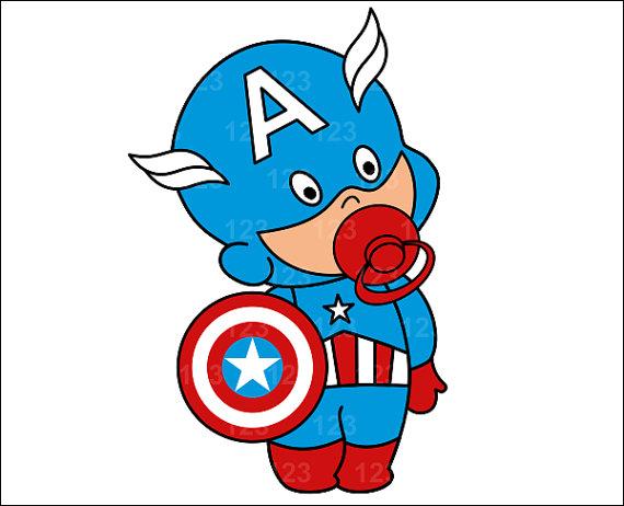 Baby Superhero Clipart.