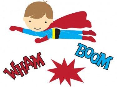 Superhero printables clip art 2.