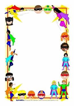 Download superhero border clipart Superhero Clip art.