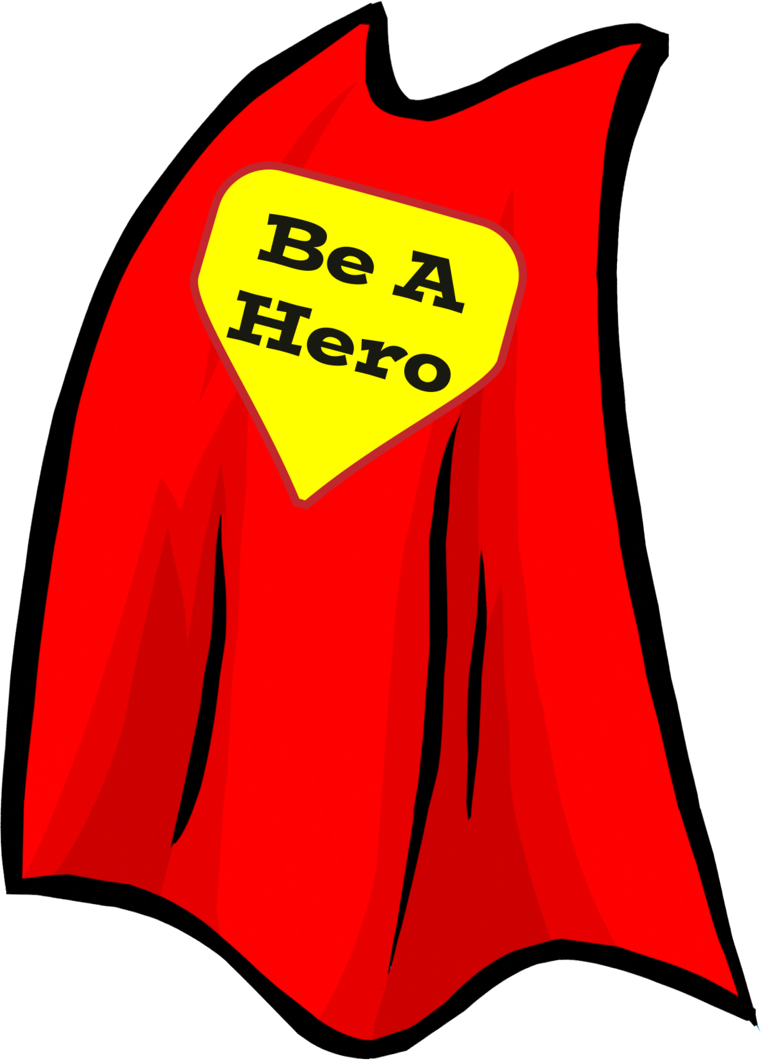 Superhero Cape Drawing.