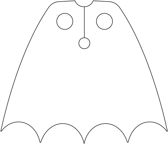 Free Superhero Cape Clipart Black And White, Download Free.