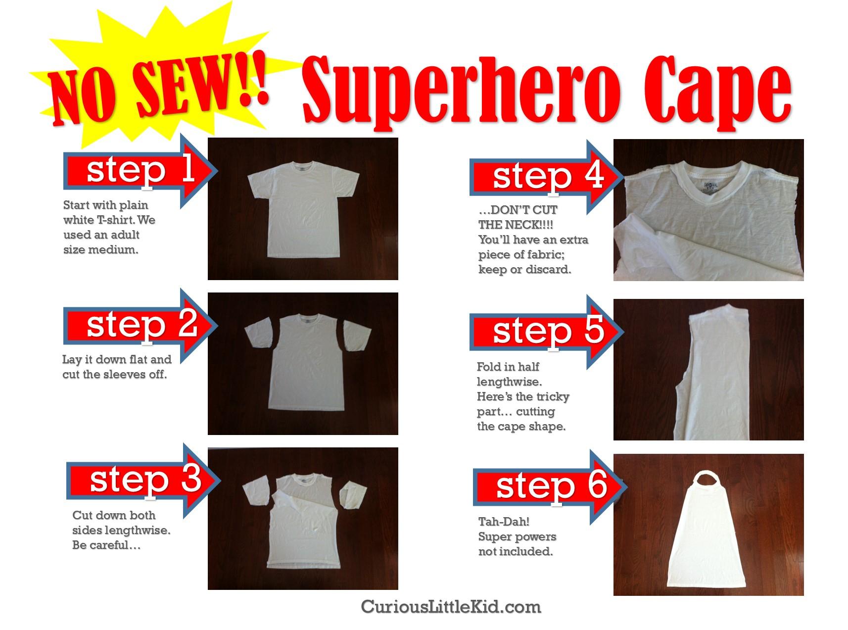 no sew superhero cape.