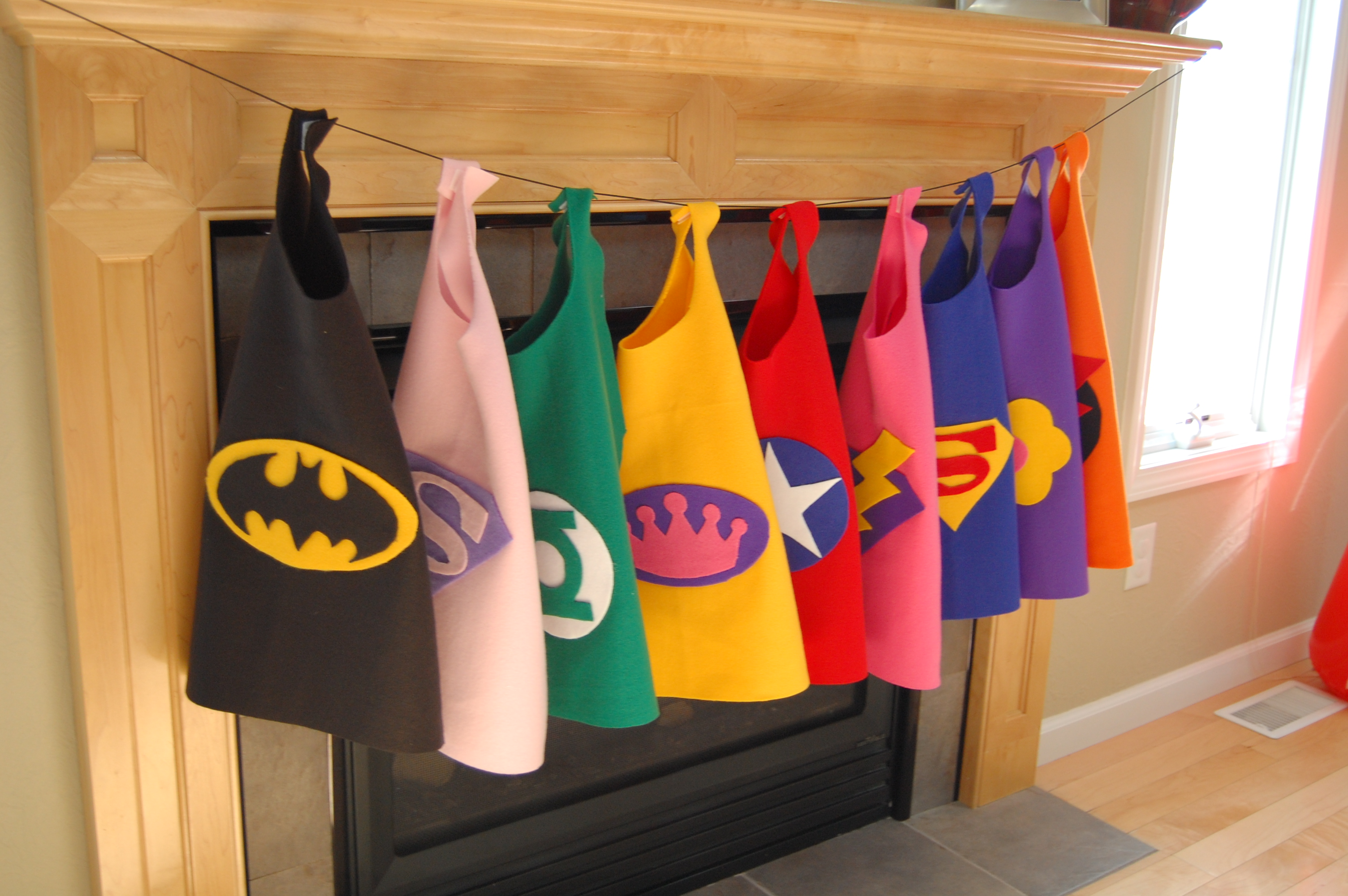 No Sew Superhero Capes would love to make these for my class.