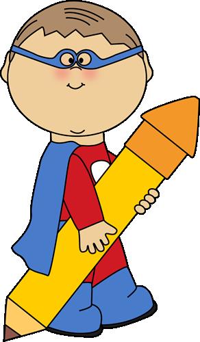 Cute Super Hero Clip Art.