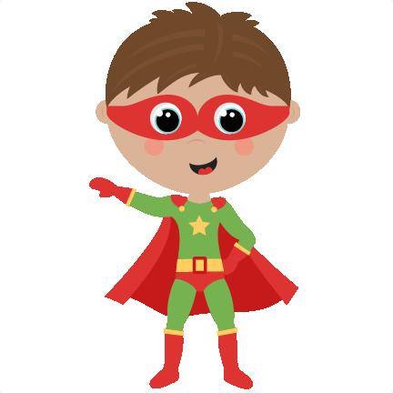 Cute Superhero Clipart.