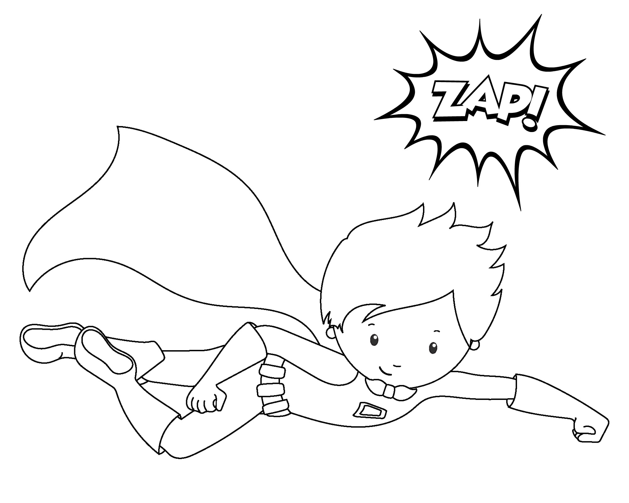 Superhero Coloring Pages Kids.