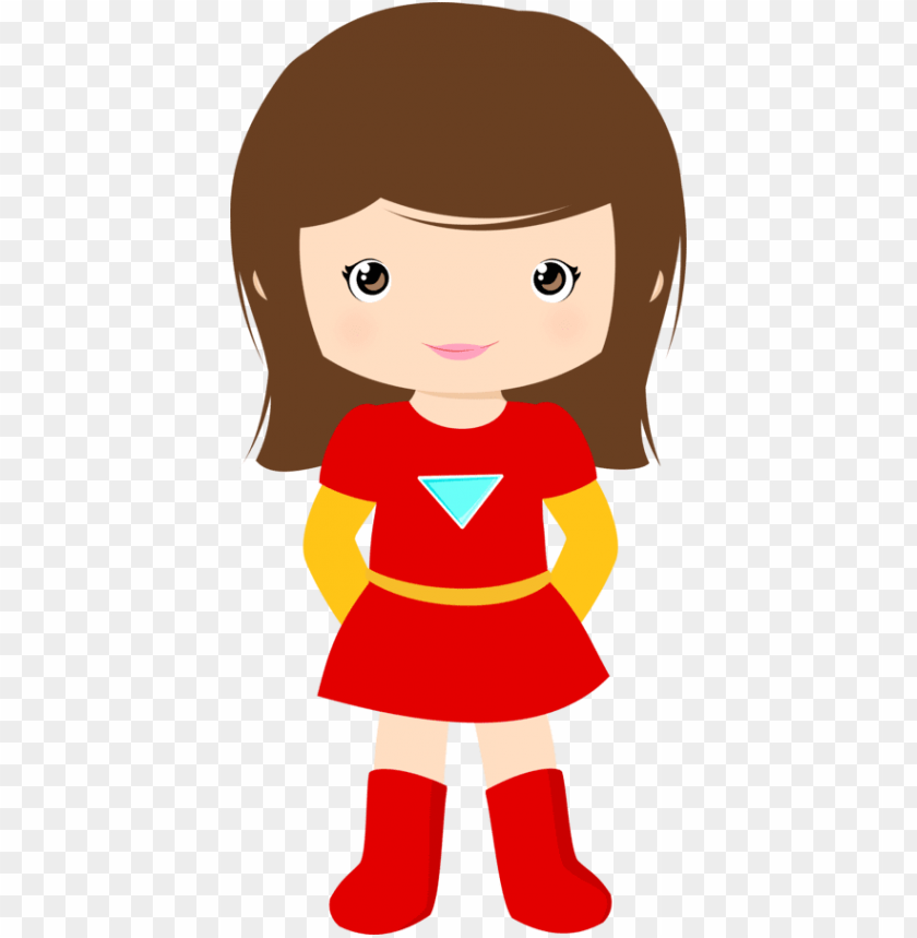 raphic library library girl superhero clipart.