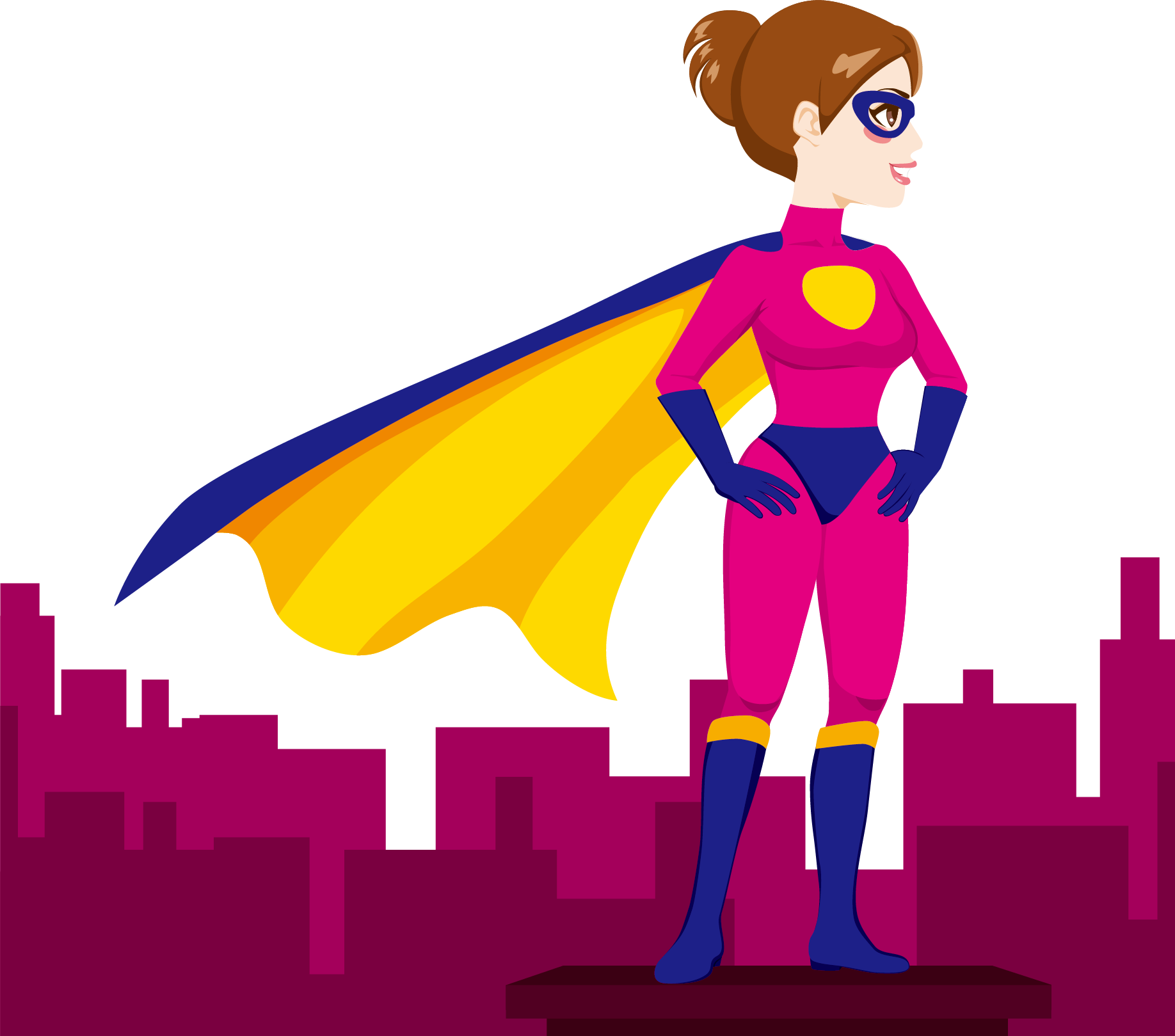 Superwoman Superhero Female Clip art.