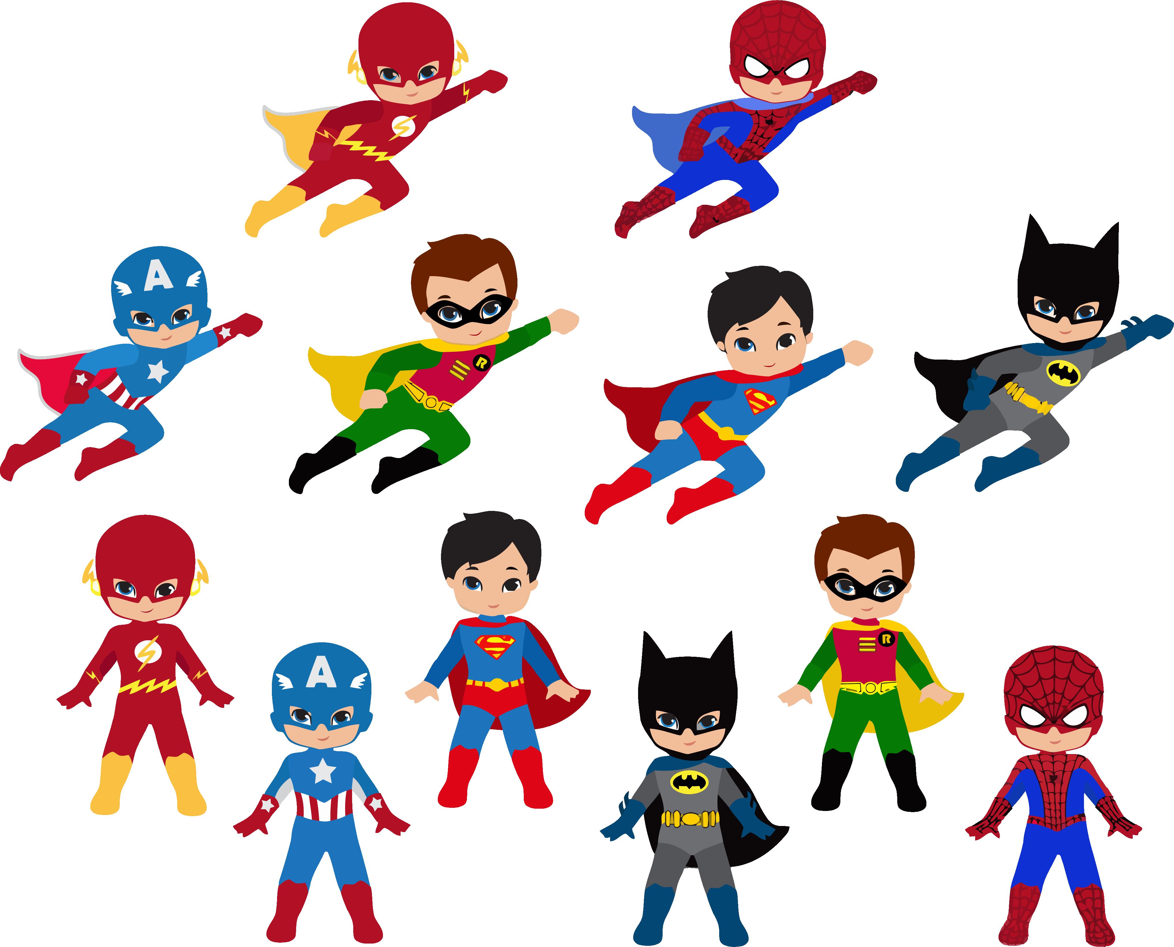 HD Free Superhero Clipart.