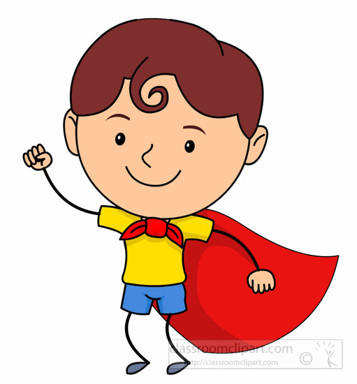 Cute Child Wearing Superhero Costume Clipart » Clipart Station.