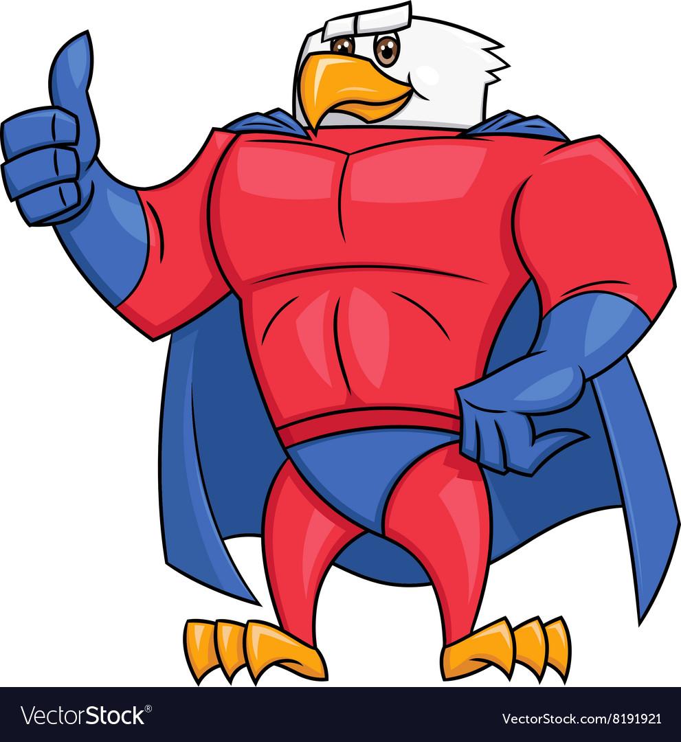 Eagle superhero thumb up gesture 2.
