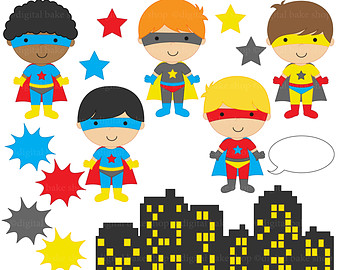 digital stamps super hero superhero clipart clip art.