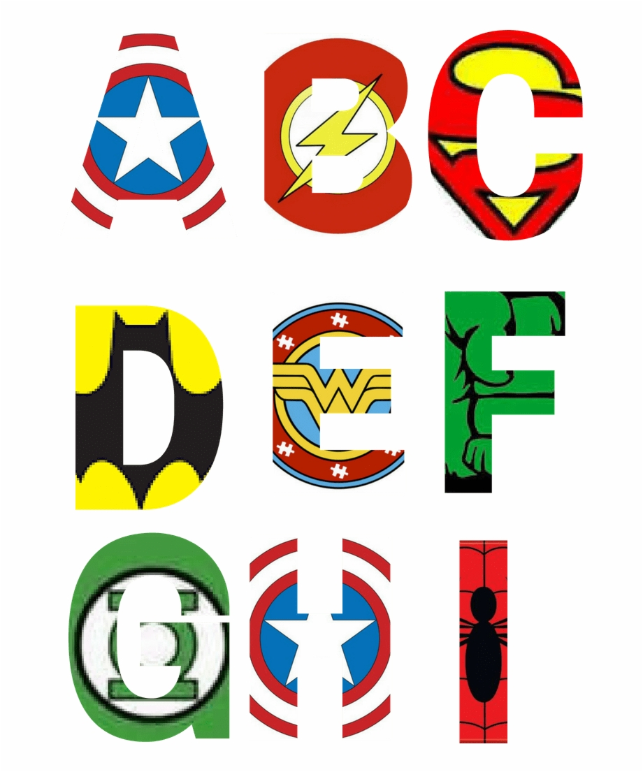 Free Printable Superhero Alphabet Letters Party With.