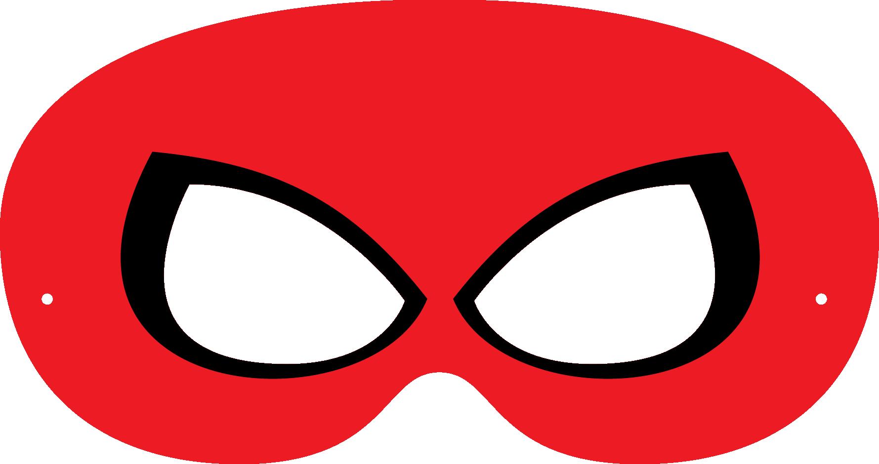 Super Hero Mask Template.