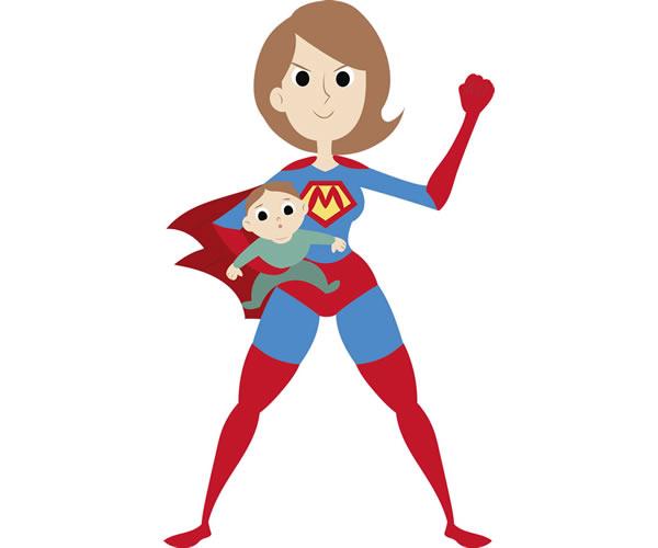 Super Mom Clipart.