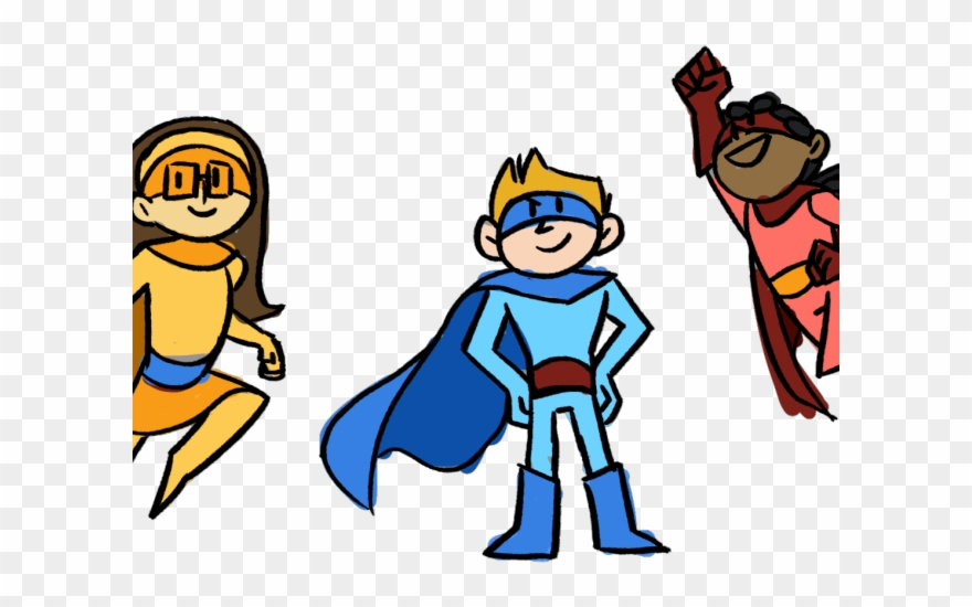 Comic Clipart Superhero Team.
